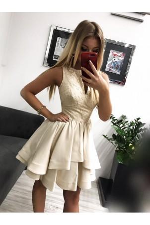 Sukienka wieczorowa Klara - beżowa