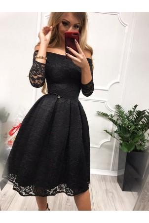Sukienka wieczorowa Scarlett Midi - czarna