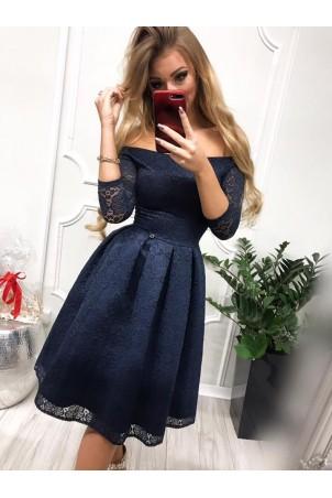 Sukienka wieczorowa Scarlett Midi - granatowa