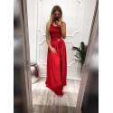 Wieczorowa sukienka Megan z doczepianą spódnicą - czerwona