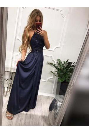 Sukienka wieczorowa Vivien II - granatowa