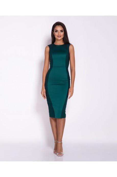 Elegancka ołówkowa sukienka Lara - butelkowa zieleń
