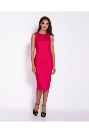 Elegancka ołówkowa sukienka Lara - malinowa