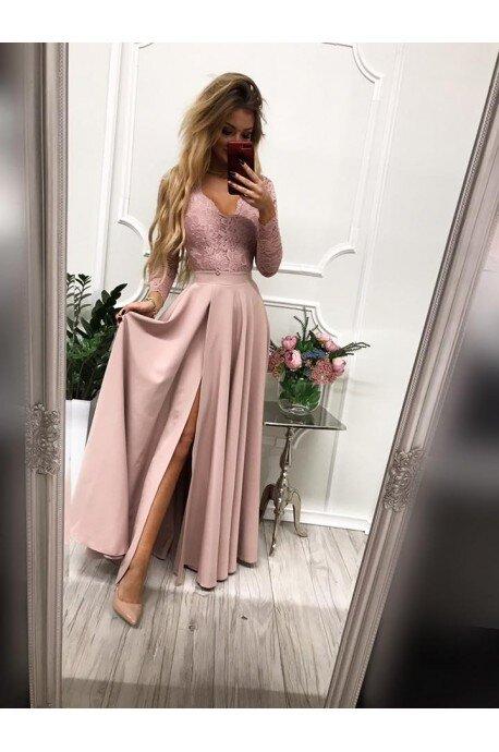 Sukienka wieczorowa Margaret - brudny róż