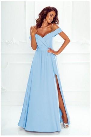 95fc13cc2f Długa suknia wieczorowa bez ramion Sandy - błękitna. 379 ...