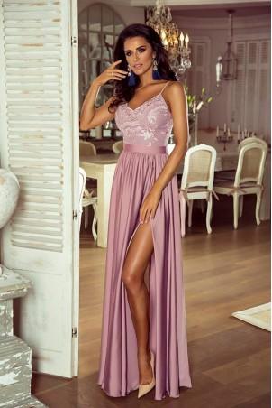 d4fd8cb1b4 Długa sukienka na cienkich ramiączkach Sally - biała - Pretty Clever ...