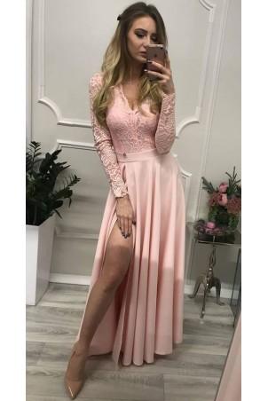 Sukienka wieczorowa Margaret - pudrowy róż
