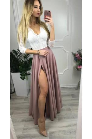 Sukienka wieczorowa Margaret - biało-różowa