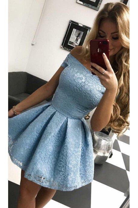 Sukienka koronkowa Scarlett II - błękitna