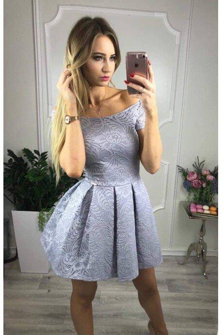 Sukienka koronkowa Scarlett II - szara