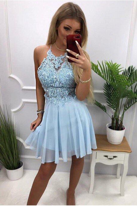 Sukienka wieczorowa Gina - błękitna