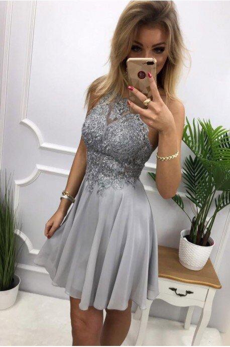 Sukienka wieczorowa Gina - szara