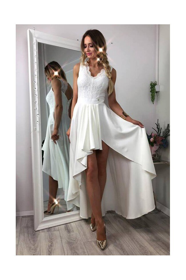 0b6197071d Sukienka wieczorowa Loren - biała - Pretty Clever Sklep internetowy