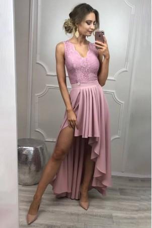 Sukienka wieczorowa Loren - wrzosowa