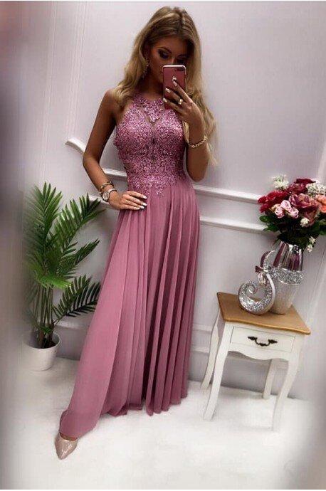 Sukienka wieczorowa Gina Maxi - wrzos