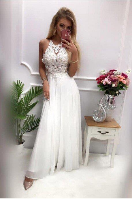 Sukienka wieczorowa Gina Maxi - biała