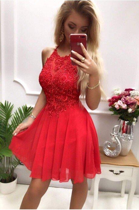 Sukienka wieczorowa Gina - czerwona