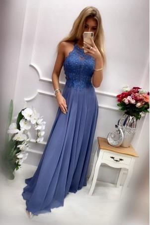 Sukienka wieczorowa Gina Maxi - niebieska