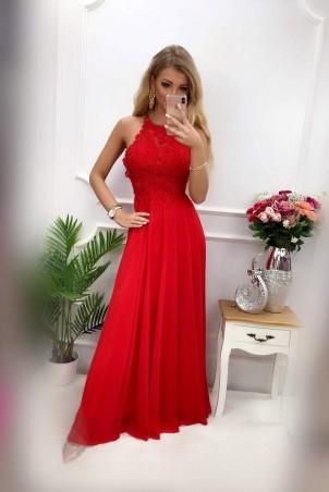 Sukienka wieczorowa Gina Maxi - czerwona