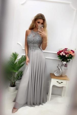 Sukienka wieczorowa Gina Maxi - szara