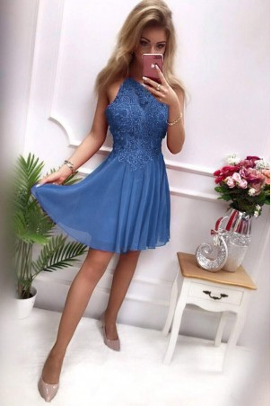 Sukienka wieczorowa Gina - niebieska