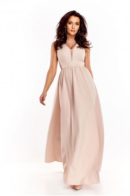 Długa wieczorowa suknia Lilia - beżowy