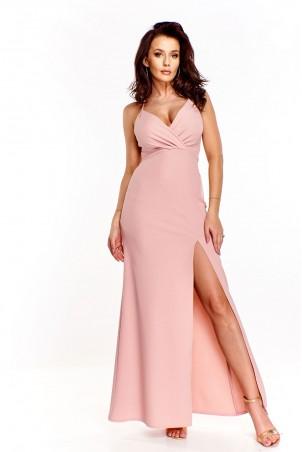 Długa wieczorowa suknia Gala - pudrowy róż
