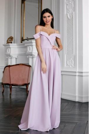 Długa suknia wieczorowa bez ramion Sandy - liliowa