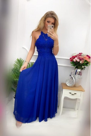 Sukienka wieczorowa Gina Maxi - chabrowa