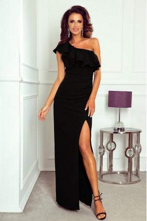 Długa sukienka na jedno ramie Andrea - czarna