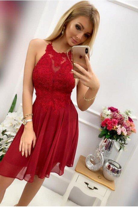Sukienka wieczorowa Gina - bordowa