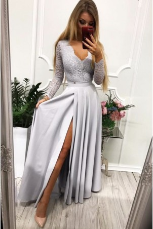 Sukienka wieczorowa Margaret - szara