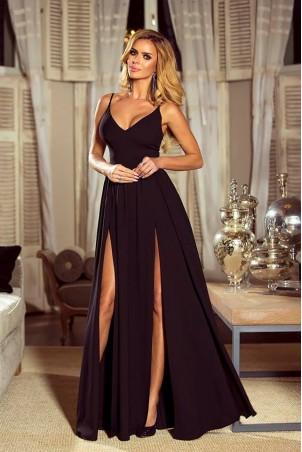 Sukienka z dwoma rozporkami Naomi - czarna
