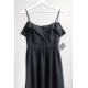 Długa suknia wieczorowa bez ramion Sandy - czarny