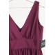 Długa suknia z głębokim dekoltem Wendy - bordowa