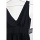 Długa suknia z głębokim dekoltem Wendy - czarna