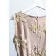 Rozkloszowana sukienka dwie falbany Lisa - czarno-złota