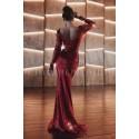 Luksusowa wieczorowa suknia z cekinami Hollywood - czerwona