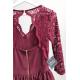 Sukienka wieczorowa Glamour II - bordowa
