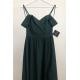 Długa suknia wieczorowa bez ramion Sandy - butelkowa zieleń