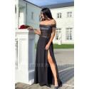 Wieczorowa sukienka maxi z cekinami Ariel - srebrna