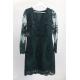 Ołówkowa koronkowa sukienka z długim rękawem Gloria - butelkowa zieleń