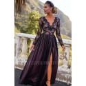 Ekskluzywna tiulowa sukienka maxi Sophie - czarna z beżem