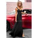 Sukienka syrenka z koronkową górą Edith - czarna