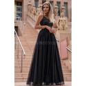 Długa sukienka na wieczorowa Suzi - czarna