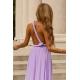 Długa sukienka wiązana na wiele sposobów Infinity - brudny róż