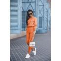 Dres damski bluza i spodnie dresowe Classic - pomarańcz