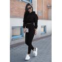 Dresy damskie bluza z kapturem i spodnie dresowe Magic - czarny