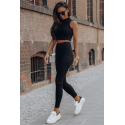 Komplet dresowy top i spodnie dresowe Skin - czarny