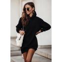 Dresowa sukienka z kapturem Vera - czarna